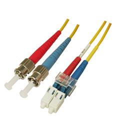 Patchcord LC/UPC-ST/UPC duplex G.657.A2 SM 9/125, 2 mm , yellow
